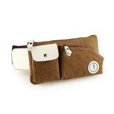 Casual Fashion Canvas Shoulder Bag Men Outdoor Sports Bag Chest Pack Pockets Korean Men Messenger Bag Small Bag Of Carbon Black Cheap - Intl - Intl