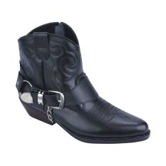 Catenzo Boots Country Leather Sepatu Pria - Hitam