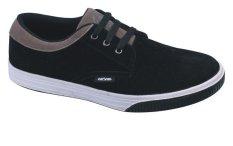 Catenzo Sepatu Casual Kets Sneakers Sporty Pria - Hitam-Cream
