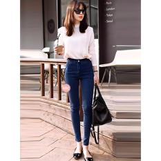 celana hw jeans | celana jeans high waist | highwaist | celana jeans navy | hw jeans big size