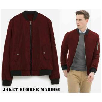 Cheap Bomber Jaket Style Maroon