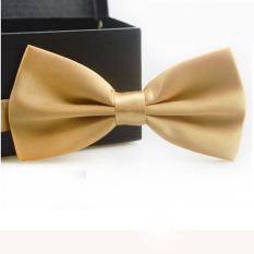 Classic Fashion Novelty Mens Adjustable Tuxedo Wedding Bow Tie Necktie Champagne
