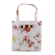 Classic Ted Baker Women's Handbag Waterproof Shopping Bag(white / Flower)