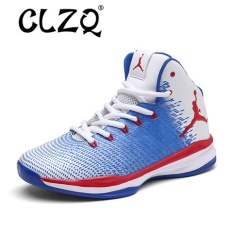 CLZQ Basketball Shoes Men Breathable Hight Top Sneakers Outdoor Sports Shoes Men Training Athletic Shoes White,Blue - intl