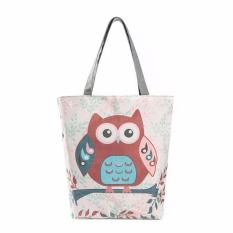 Coconiey Owl Printed Canvas Tote Casual Beach Bags Women Shopping Bag Handbags BFree Shipping - Intl
