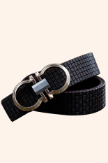 Cocotina Fashion Unisex Printing Imitation Leather Smooth Pin Buckle Casual Waist Band Strap Belt - Brown