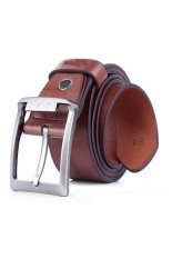 Cocotina Retro Mens Waistband Faux Leather Metal Buckle Waist Band Strap Belt – Brown