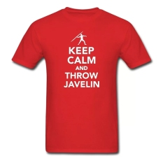 CONLEGO Creative Men's Keep Calm And Throw Javelin T-Shirts Red