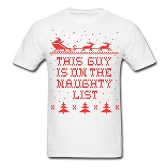 CONLEGO Custom Printed Men's This Guy Naughty T-Shirts White