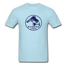 CONLEGO Personalize Men's Cctv Gun T-Shirts Sky Blue