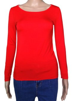 COSIVIA Cotton Muslim long sleeve half-length T shirt  red