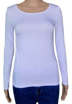 COSIVIA Cotton Muslim long sleeve half-length T shirt  white