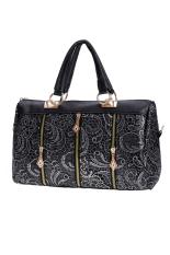 Sunweb Fashion Elegant Women Lace Style Synthetic Leather Handbag Top-Handle Bag (Silver)