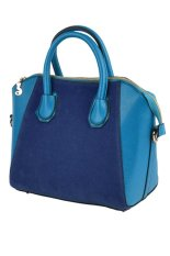 Cyber Handbag Women's Synthetic Leather Top-Handle Bags Cross-body Shoulder Bag (Blue)