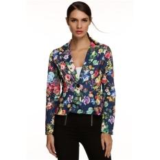 Cyber Meaneor Women Long Sleeve Crop Frill Shift Slim Fit Peplum Blazer Coat