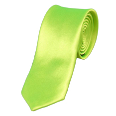 Cyber Mens Casual Slim Plain Mens Solid Skinny Neck Party Wedding Tie Necktie (Green) (Intl)