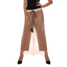 Cyber New Fashion Women's Sexy Casual Loose High Waist Solid Wide Leg Pants (Kahaki)