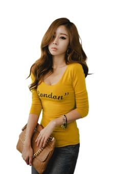 Slim Long Sleeve T-shirt (Yellow)