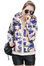 Cyber Winter Fashion Women' Cotton Coat Color Splicing Parkas Warm Down Jacket (Yellow)