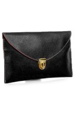 Cyber Women'S Golden Chain Envelope Purse Clutch Synthetic Leather Handbag Shoulder Bag&Nbsp;Dinner Party (Black) (Intl)