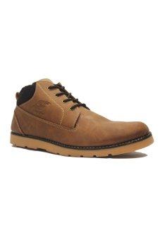 D-Island Shoes Boots Sole Rubber Top Velvet Leather - Cokelat