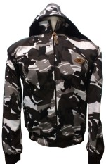 D1NY Collection - Jaket Army Two In One Abu-Hitam