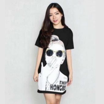 DaveCollection - Long Dress Hk - Black