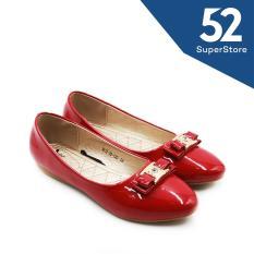 Dea Sepatu Flat Shoes 1612-30-130 - Maroon Size 36-40