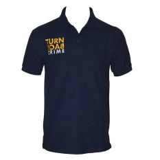 DEcTionS Kaos Kerah Pria Turn Back Crime Polo Shirt - Navy
