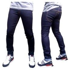 DFS Celana jeans skinny / slimfit / pensil pria - biru dongker