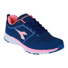 Diadora Denta Sepatu Lari Wanita - Blue/Salmon