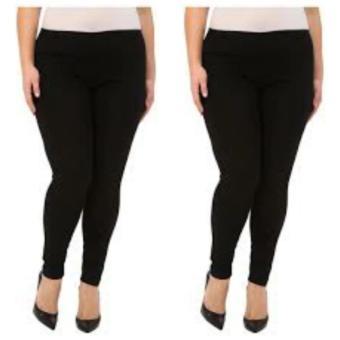 Universal Legging Pendek Ukuran Standart dan Jumbo warna Hitam. Source · Dinda legging wanita jumbo