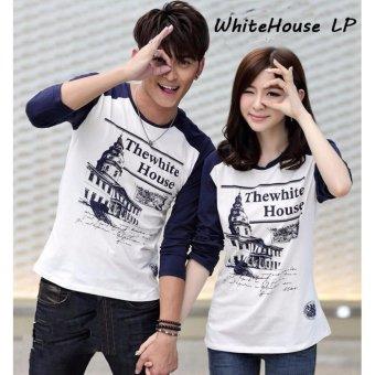 Shirts Couple Lazada co id Source · Kaos Source Distributor Baju Couple Couple Lengan Panjang WhiteHouse