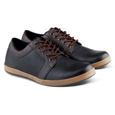 Distro Bandung VR 060 Sepatu Casual Formal Pria - Hitam Komb