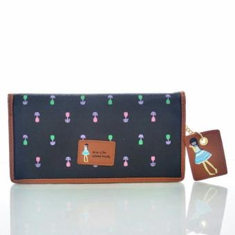 7 Jims Honey Fashion dompet fashion jims honey dolly floral wallet black