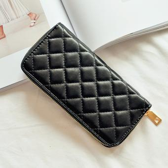Dompet Fashion Wanita Belle Korean Style Premium PU Leather Long Wallet - Hitam