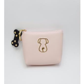 Dompet Koin Premium Quality PU Doggie - Pink
