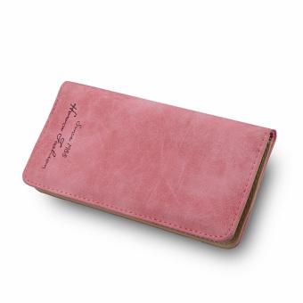 Women Retro Long Leather Wallet Watermelon Red