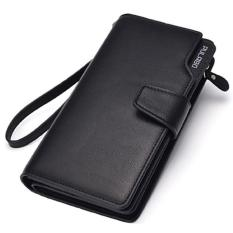 Dompet Pria Pulabo Leather Wallet Soft Leather Purse Phone Bag - Hitam
