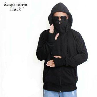 DS Jaket Sweater Hoodie Ninja Pria - Hitam