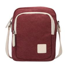 Durable Vintage Multifunction Canvas Shoulder Bag Messenger Bag Satchel Bag For Men And Women - Red - Intl