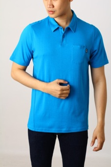 Edberth Shop Kaos Polo/Kerah Pria - Blue