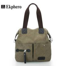 Ekphero Men Women Pillow Vintage Canvas Bag Shoulder Messenger Handbag (Black) - Intl