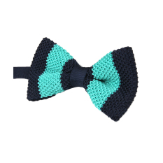 ELENXS Fashion Mens Bar Wedding Bow Tie Necktie (Green / Dark Blue)