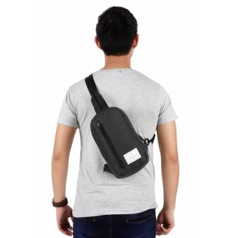 Elfs Shop Canvas- Tas Ransel Selempang Sling Bag Misty 29124 Canvas-Abu Tua