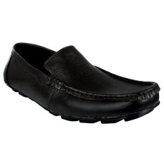 Elfs Shop - Sepatu Loafer Leather 072-Hitam