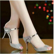 Ellen Grosir - High Heels Maroko (Silver)