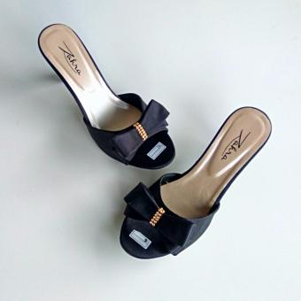 Ellen Grosir - Sandal Heels Wanita ZR.01 (Hitam)