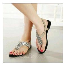Ellen Grosir - Sandal Teplek Permata NS11 (Cream)