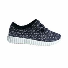 Ellen Grosir Sepatu Kets Wanita K.01 - Hitam